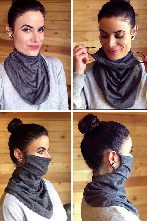 Grey/Black Reversible Buff Mask