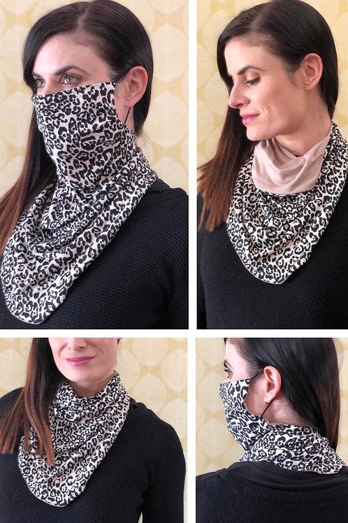 Leopard/Stone Reversible Buff Mask