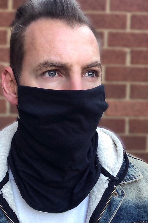 Men's Black/Green Reversible Buff Mask