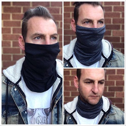 Men's Black/Grey Reversible Buff Mask