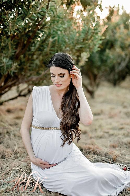 VIOLA MATERNITY DRESS (WHITE)