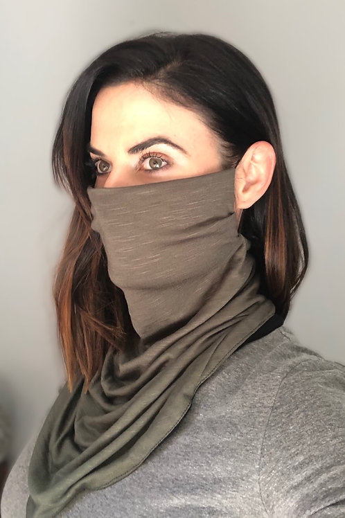 Olive/Black Reversible Buff Mask