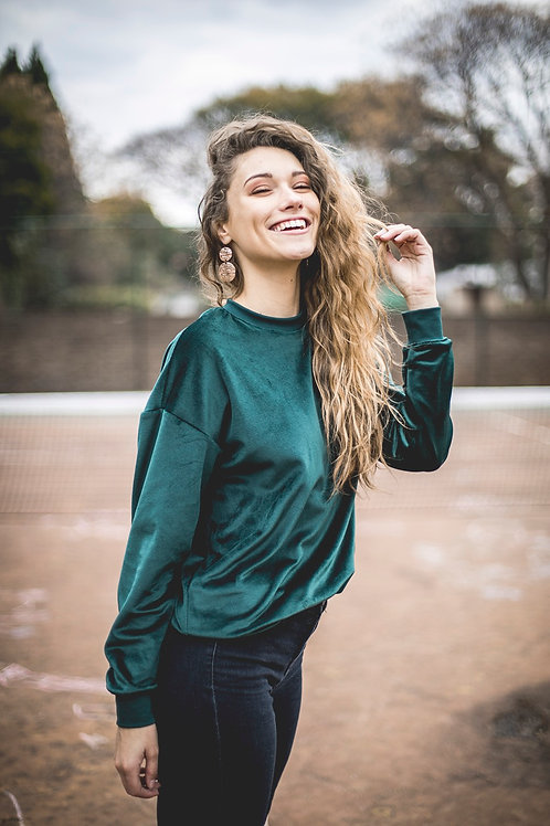 Oversized Velour Sweater