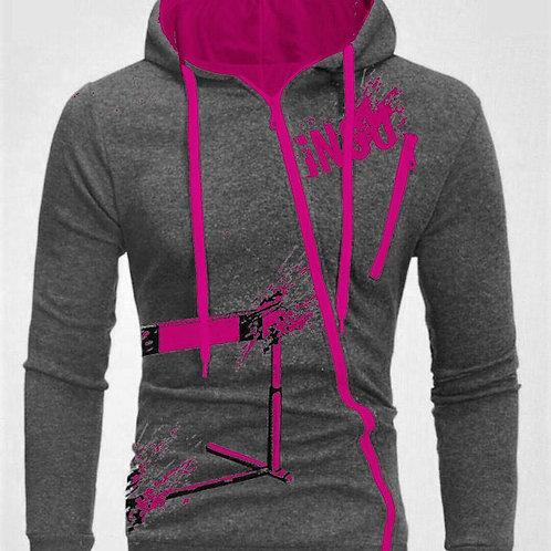INGU Hoodie Pink/Grey