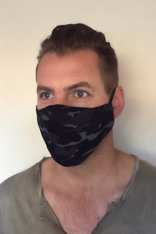 Grey Camo Mask
