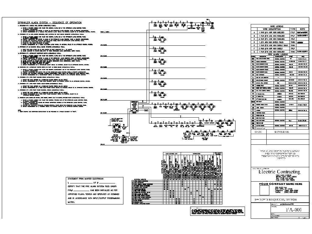 Elevator Fire Alarm Wiring Diagram Diagrams For Dummies Typical Riser Library Circuit Basic System