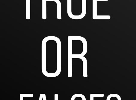True or False Food?