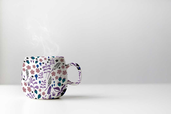 pattern design on a mug