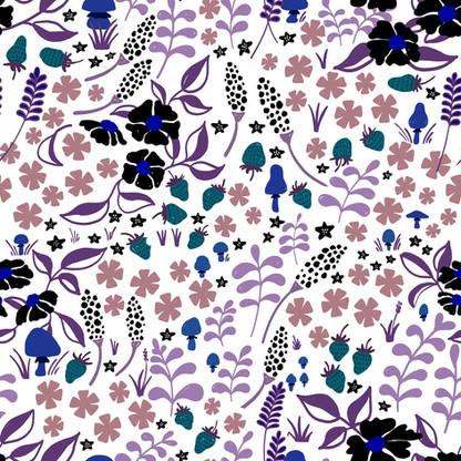 "pattern design ""forest floor"" white"