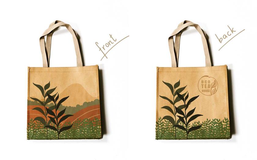 packaging design on bag