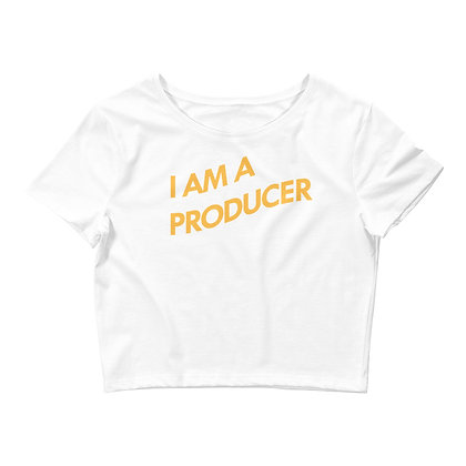 I Am A Producer: Women's Crop Tee