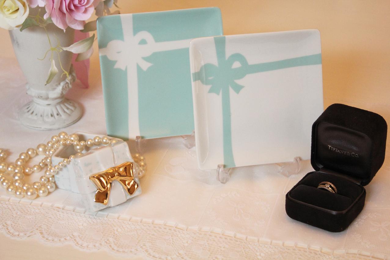 Tiffany style cake plats
