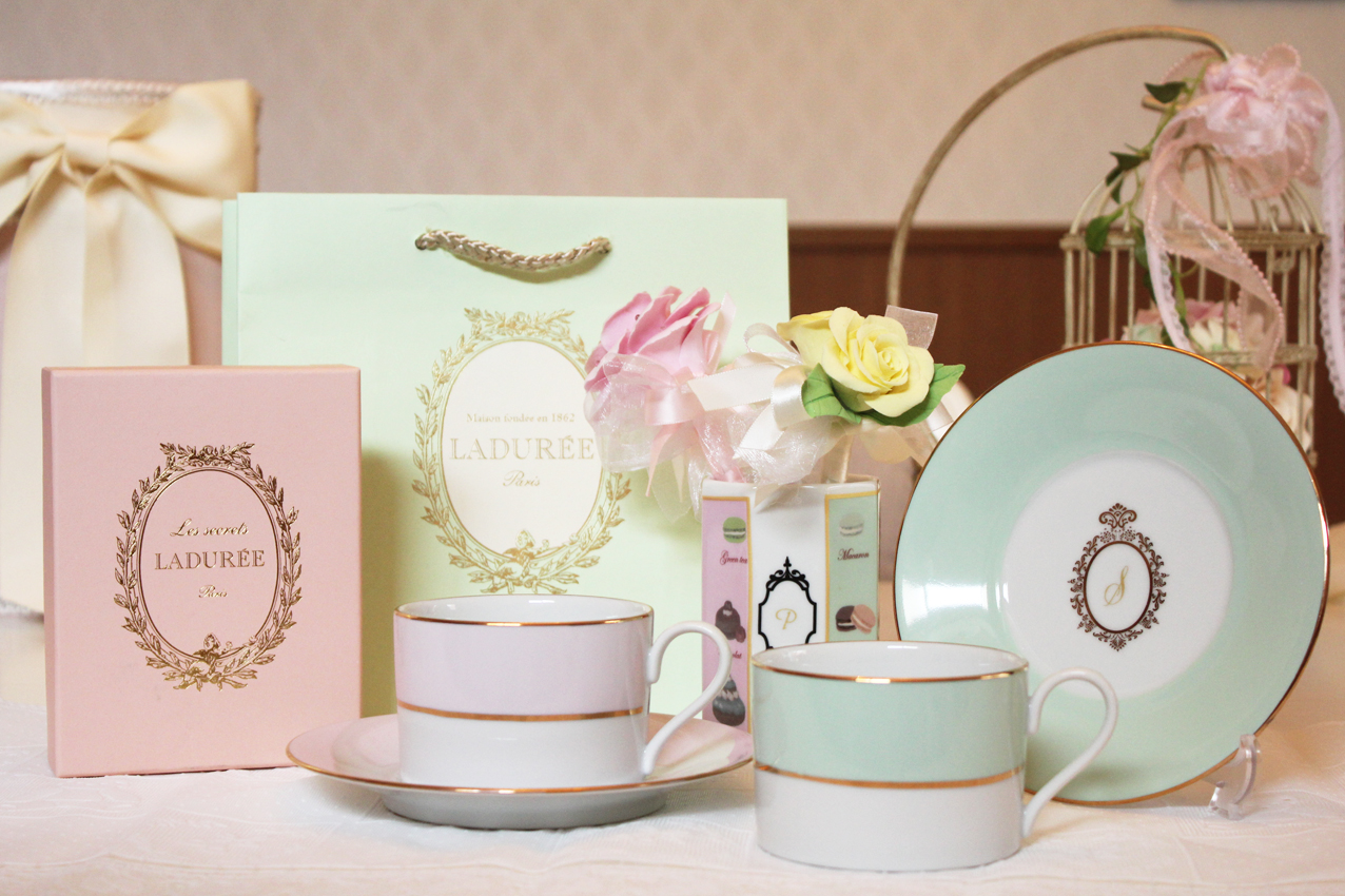 Laduree style Cup and saucer