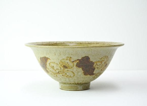 "Bowl No.12 Miyu Kurihara x Yuta Segawa""Plants pattern and a tiger"""