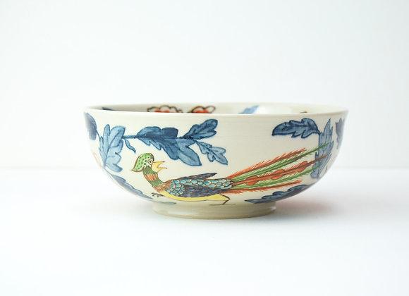 "Large bowl No.19 Miyu Kurihara x Yuta Segawa ""Pheasant and camelia"""