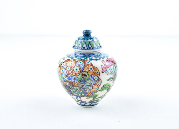 "P35 Miyu Kurihara × Yuta Segawa ""Peacock""Pot & Cover Large"