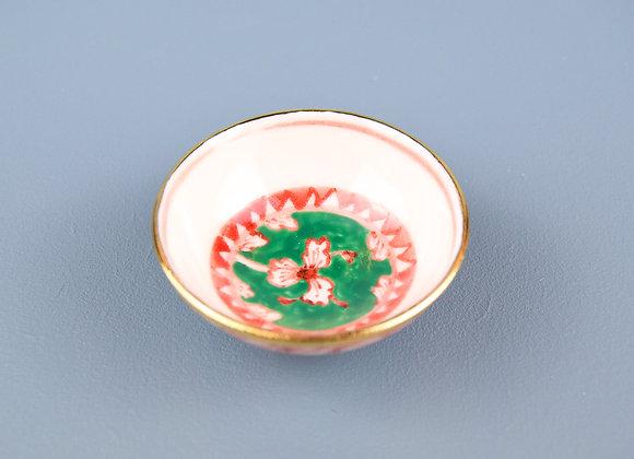 Miyu Kurihara × Yuta Segawa  No.53 'Green, red and gold floral bowl''
