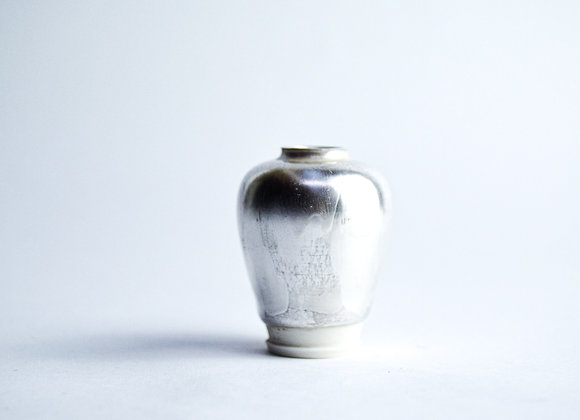 No. S19 Yuta Segawa Miniature Pot 'Silver' Medium