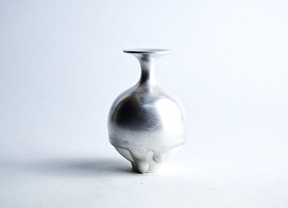 No. S35 Yuta Segawa Miniature Pot 'Silver' Large