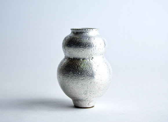 No. S20 Yuta Segawa Miniature Pot 'Silver' Medium