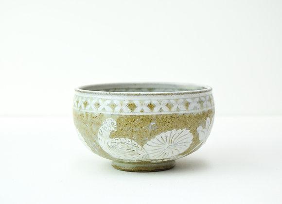 """Bowl No.14 Miyu Kurihara x Yuta Segawa """"Bird and floral patten"""""""