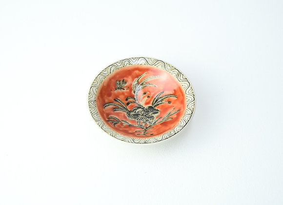 "Small plate No.23 Miyu Kurihara x Yuta Segawa ""Camelia and butterfly"""