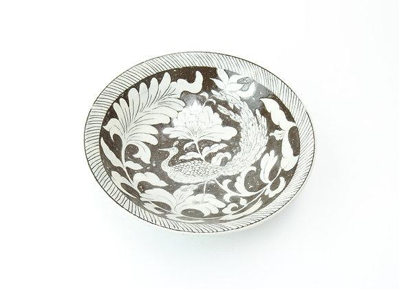 """Large bowl No.2 Miyu Kurihara x Yuta Segawa """"Peacock"""""""