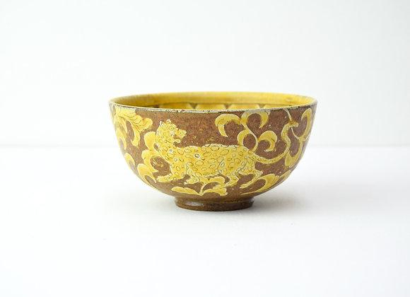 """Bowl No.13 Miyu Kurihara x Yuta Segawa """"Leopard and ivy"""""""