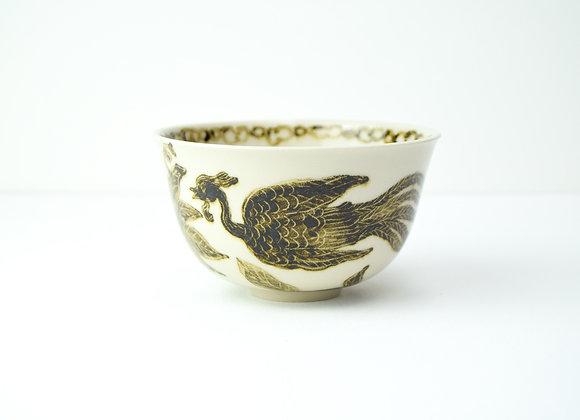 """Bowl No.21 Miyu Kurihara x Yuta Segawa """"Phoenix and buds"""""""