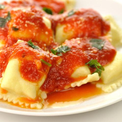 Vegetable Ravioli in Marinara Sauce