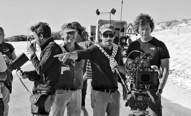 Alessandro Angelini directing in Tarifa.