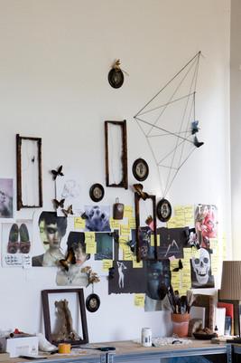 Wall in Laurence's studio.jpg