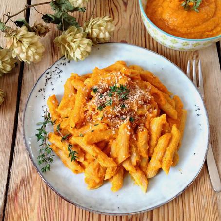 Pasta mit Kürbis-Cashew-Pesto