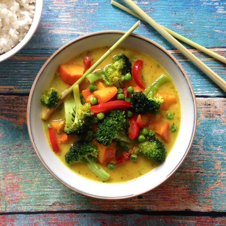 Thai-Curry mit Kürbis und Brokkoli