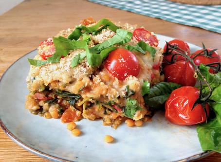 Linsen-Spinat-Lasagne