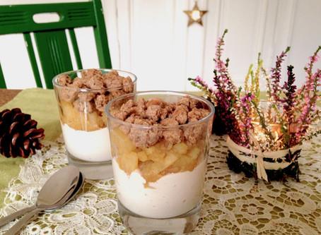 Lebkuchen-Crumble-Dessert