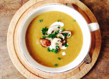Herzhafte Champignon-Crème-Suppe