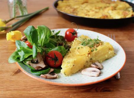 Spanische Tortilla (mit Aquafaba)