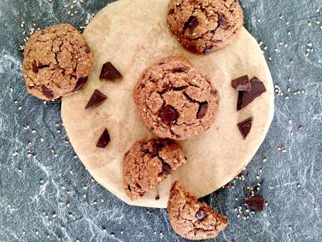 Schnelle Sesam-Schoko-Cookies