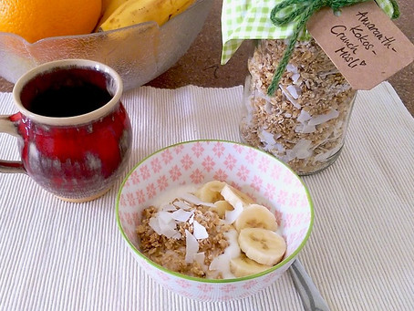 Amaranth-Kokos-Müsli, hausgemacht