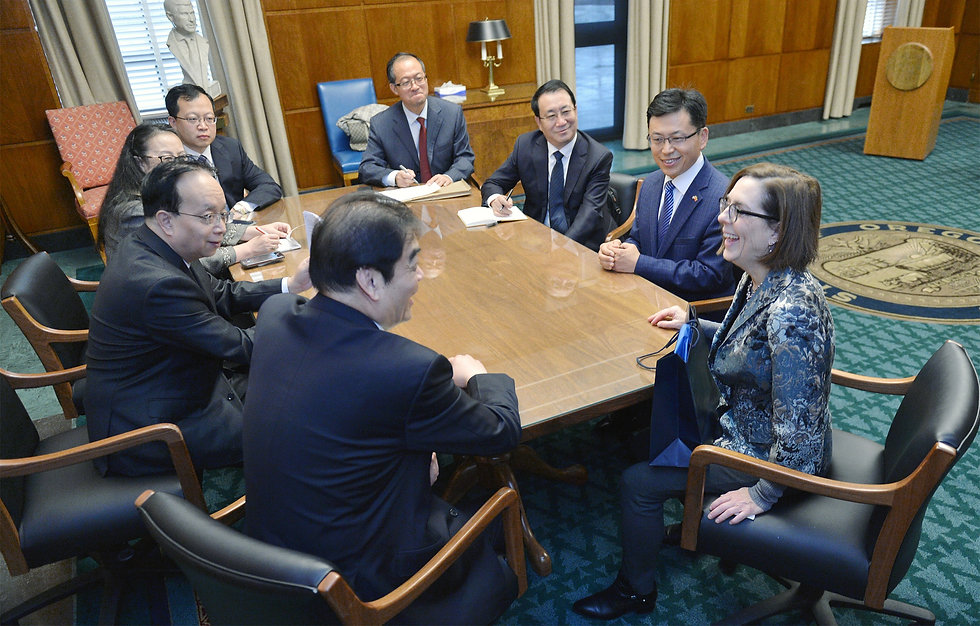 Governor Kate Brown meeting with Tianjin