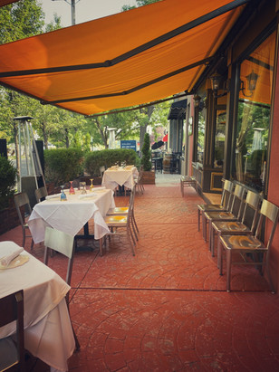 The Patio at La Trattoria di Francesco