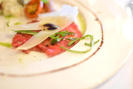 Beef Carpaccio with Truffle Oil
