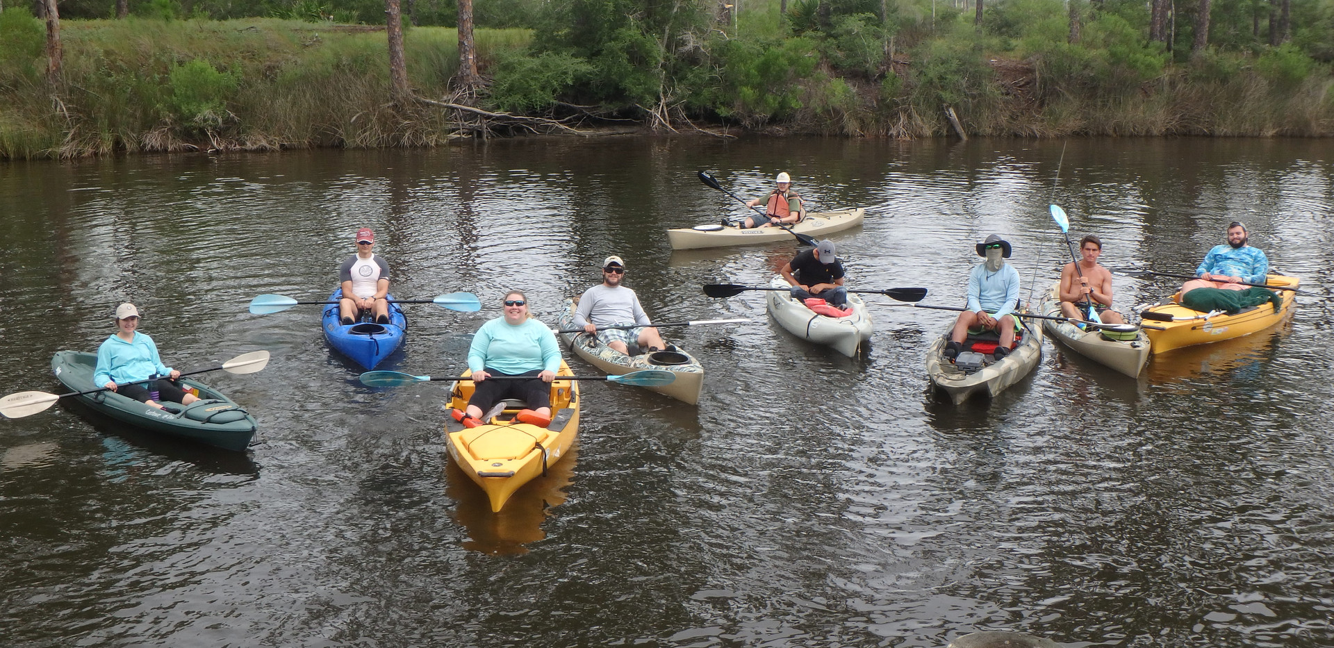 Kayak to sample site