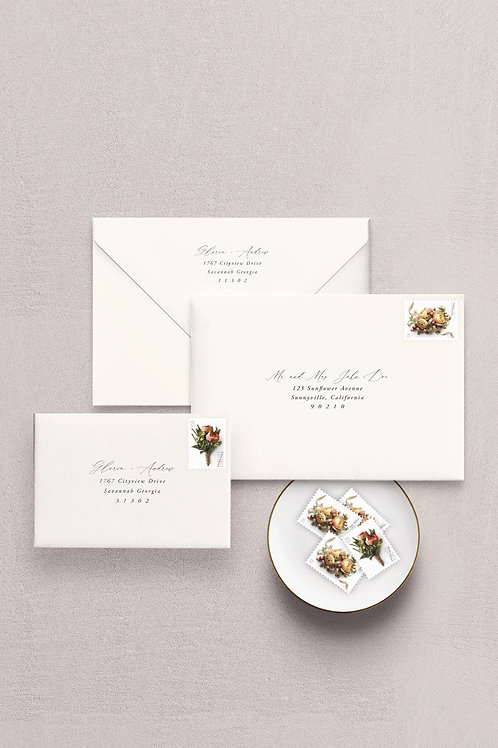 Printed Guest & Return Addresses