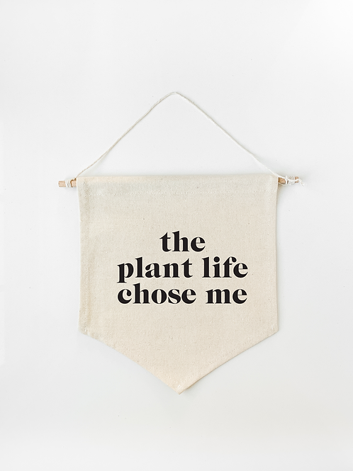 Plant Life Canvas Wall Banner