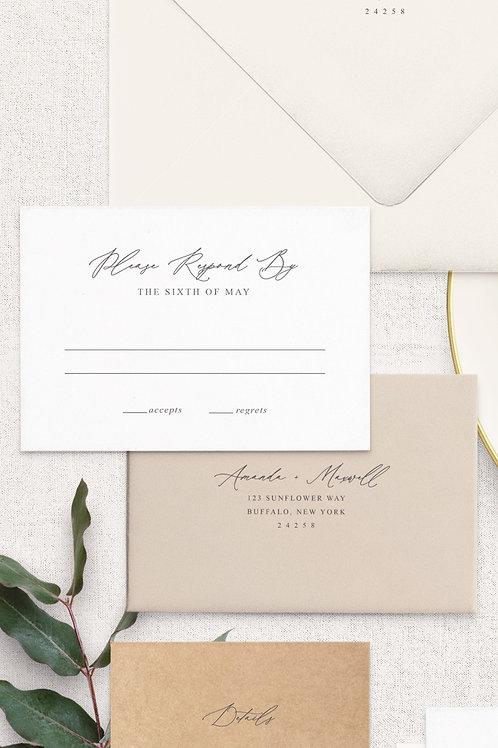 Amanda RSVP Card