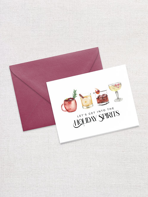 Holiday Spirits Cards