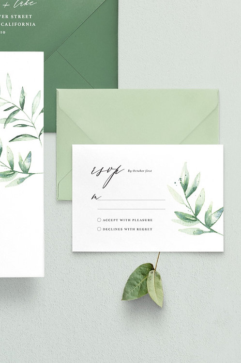 Heather RSVP Card