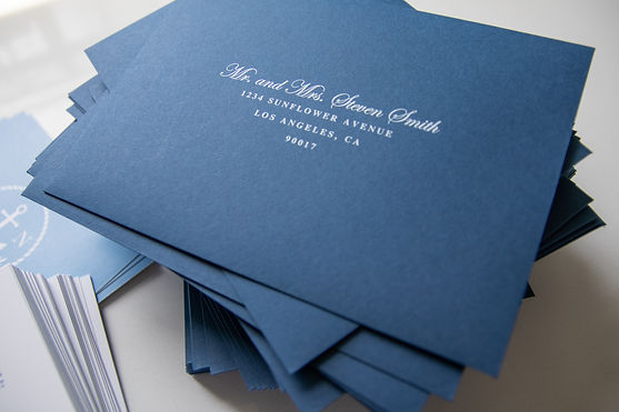 Printed Envelopes with white ink